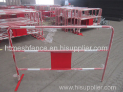 Powder-coating Traffic Metal Barrier 100cm height safety metal barrier