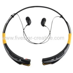 Black Vitality HBS-740 Bluetooth V4.0 Wireless Stereo Powerful Bass Headset Headphone With Microphone