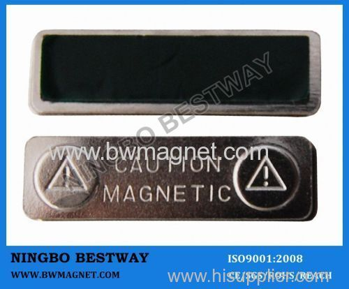 Magnetic named badge holder