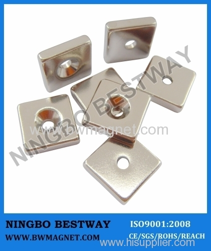 NdFeB Magnets with countersunk holes