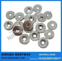 NdFeB Countersink Magnet D13.8*(6.6-3.5)*4mm Ni coating