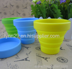 Portable and Eco friendly silicone collapsible cup