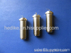 coaxial F connector 25mm Long ○Electrical characteristics Rated: voltage. current. 30V, 1A