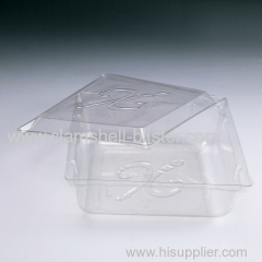 Plasitc double blister box for food or fruit with cover