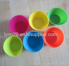 round shaped and durable quality silicone cake decorating molds
