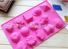 environmentally friendly 12 holes flowers silicone baking molds