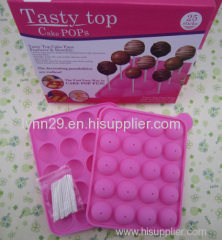 popular 20 holes tasty top silicone cake pop moulds