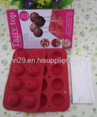 popular 8 holes silicone tasty top cake pop molds