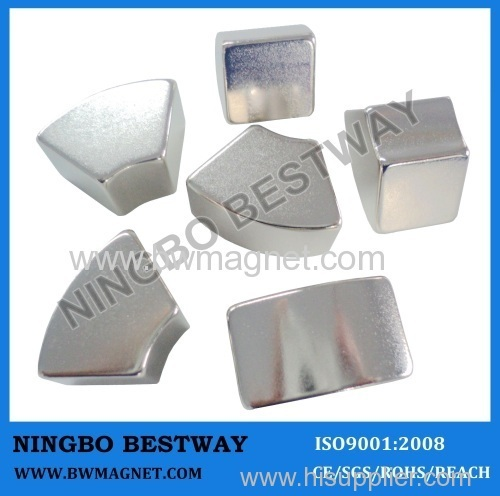Arc Magnets N42 R37.75xr28x47Lx14.36mm Neodymium Arc Magnet Supplier