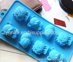 environmentally lion design silicone animal cake mould