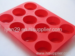 food grade 12cups microwave silicone muffin mould