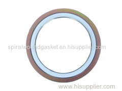 PTFE spiral wound gasket with outer ring