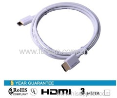 High speed 3m Mini hdmi cable M/M for HD projectrs tablet PC etc