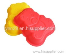food grade silicone bear shaped cake mould