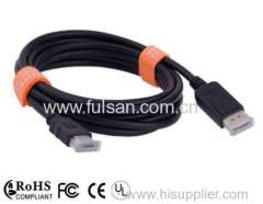 High speed HDMI to displayport cables displayport hdmi cable