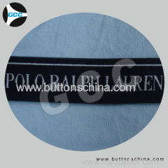 Jacquard elastic with POLO logo tape