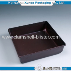 Square Plastic sushi or pizza packaging container