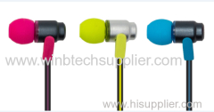 zipper earphone with microphone for iphone super sound in ear earphone