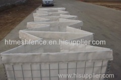 Zinc-coating Hesco barrier sand wall