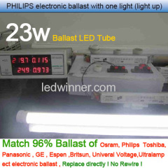 5ft 23w Ballast Compatible LED Tube,1500mm ballast led tube,ballast led tube