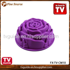 New Design Silicone Donut Cake Mould Rose Cake