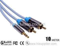 high speed DC to 2RCA Cable/3.5mm to rca cable