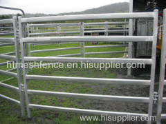 Galvanized Cattle Yard Panel 6 rails cattle fence panels