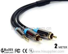 Hot Selling High quality 3.5mm to 2rca cable