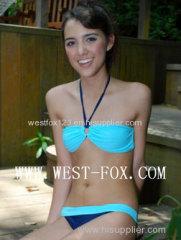 2014 women's blue bikini with 80%Nylon