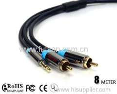 3.5mm to 2RCA AV Cable/3.5 Headphone Cable/3.5mm Extension Cable