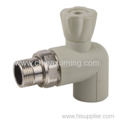 PPR Angle Radiator Brass Ball Vale Pipe Fittings