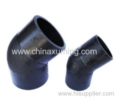 HDPE Butt Fusion Injection 45 Degree Elbow Pipe Fittings