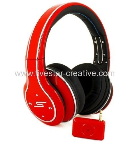 SMS Audio Sync by 50 Cent Wireless DJ Style Over Ear Headphones Red