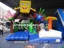 Waterproof Yard jumping Inflatable Combos sponge bob bouncer For Kids