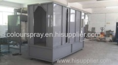 Closed drive-thru Type powder spray booth
