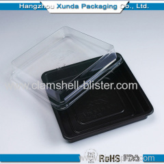 Square plastic clamshell salad boxes with lids