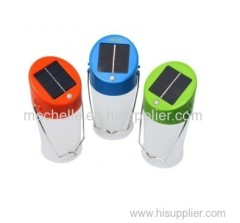 Water-resistant solar rechargeable camping lantern