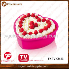2014 New Sales Silicone Cake Mould heart design