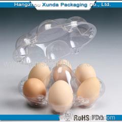 Plastic clamshell eggs tray