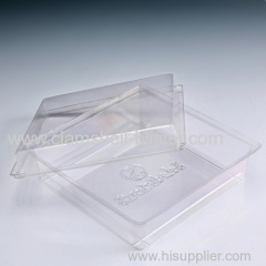 Transparent small plastic containers