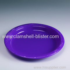 Colorful disposable plastic round plate