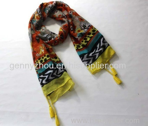 Polyester scarf printing scarf