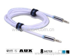 3.5mm Stereo Audio Car Auxiliary AUX Cable For Apple iPhone