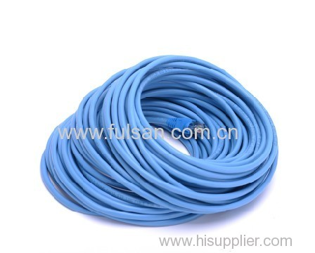 Rj45 stranded coppper 24AWG FTP cat5e patch cord with fluke test