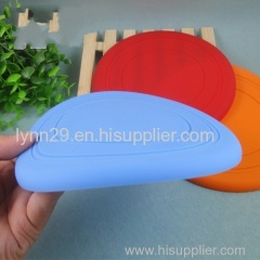 Soft & Light new design silicone flying saucer / silicone flying disc for dog training