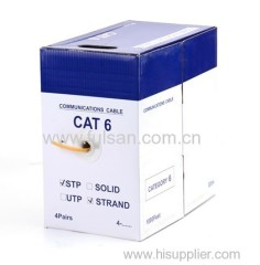 China Manufacturer 4Pairs 305m cat6 SSTP Ethernet Cable