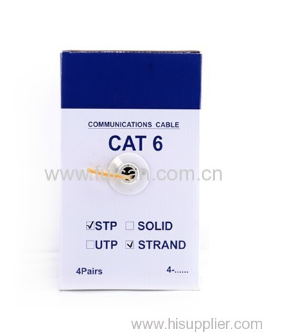UL confirmed good quality 1000ft/305m UTP/STP/FTP cat6 stranded twisted pair cable