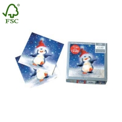 snowman greeting Christmas card