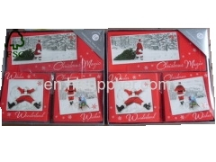Handmade Triple Pack Greetings Christmas Card