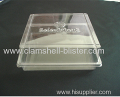 Clear plastic salad container